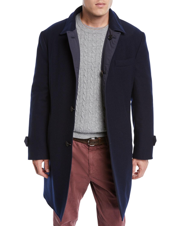 396b4ea70a Brunello Cucinelli Men s Reversible Wool Cashmere Coat