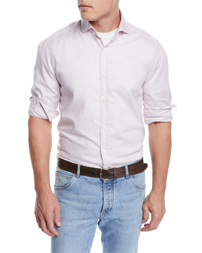 Men's Washed Cotton Oxford Shirt