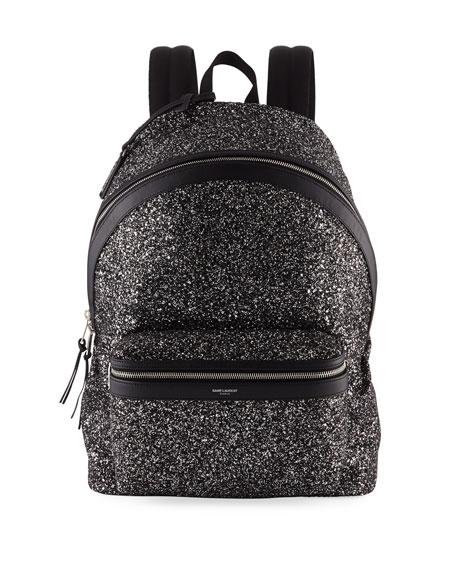 Saint Laurent Men's City Glitter Backpack