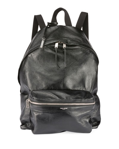 Men's City Foldable Leather Backpack