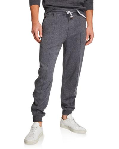 Men's Leisure-Fit Drawstring-Waist Pants