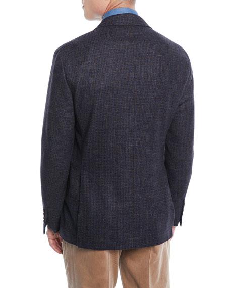Bicolor Micro-Check Sport Jacket