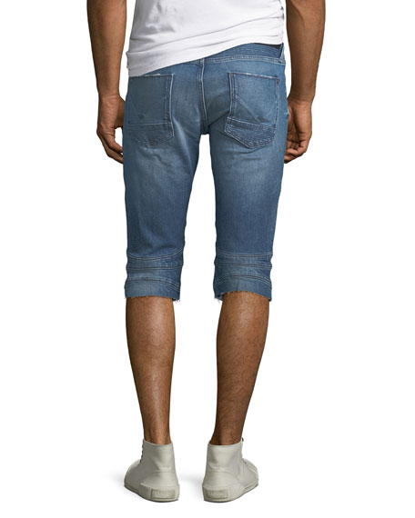 Men's The Blinder Biker Denim Shorts