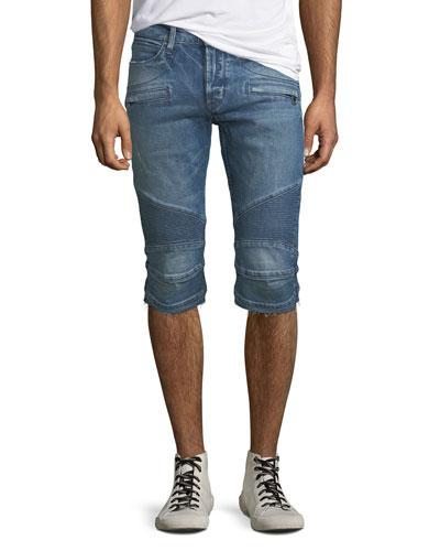 Men's The Blinder Biker Denim Shorts