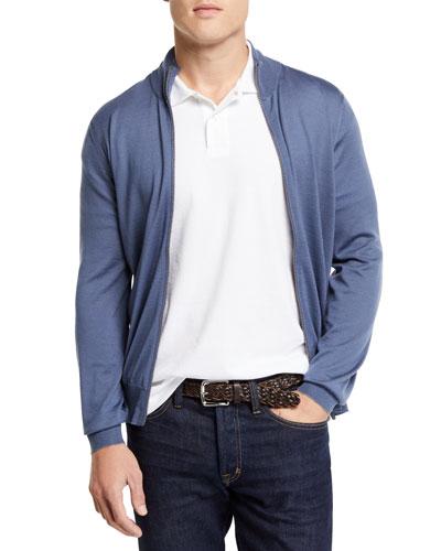 Men's Fine-Gauge Full-Zip Sweater