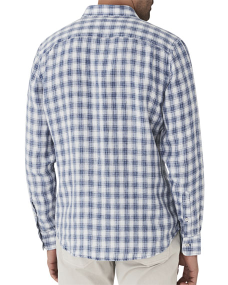 Men's Ventura Plaid Linen Shirt