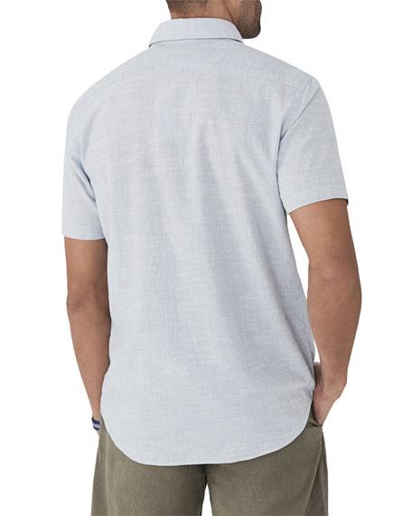 Men's Pacific Textured Organic Cotton Short-Sleeve Shirt