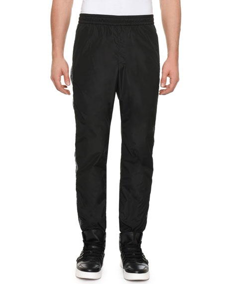Versace Men's Side-Stripe Track Pants