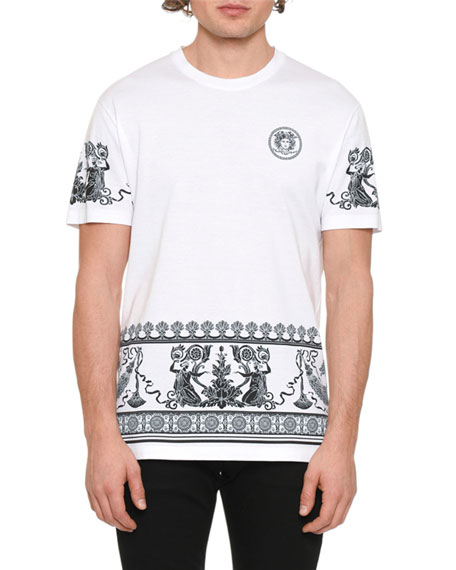 Versace Men's Graphic-Trim Jersey T-Shirt