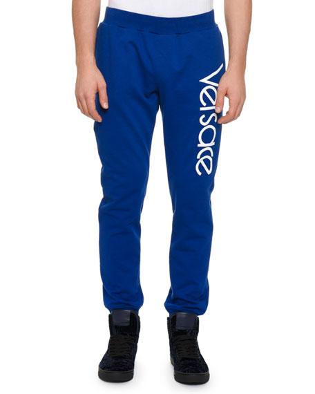 Versace Men's Sportivo Logo-Graphic Track Pants