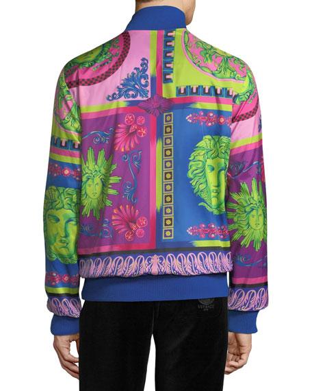 Men's Printed Zip-Front Reversible Jacket