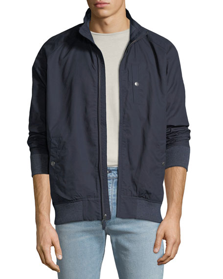 Faherty Men's Newport Lined Zip-Front Jacket