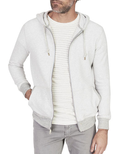 Men's Saturday Zip-Front Hoodie Sweatshirt
