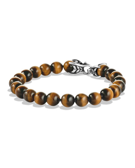 David Yurman Men's Spiritual Beads Bracelet w/ Tiger's