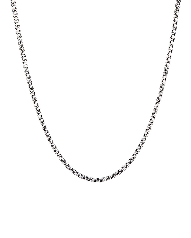 David Yurman Men s Small Silver Box Chain Necklace d392c3325553