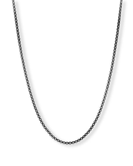 "Men's 4mm Box Chain Necklace, 24"""