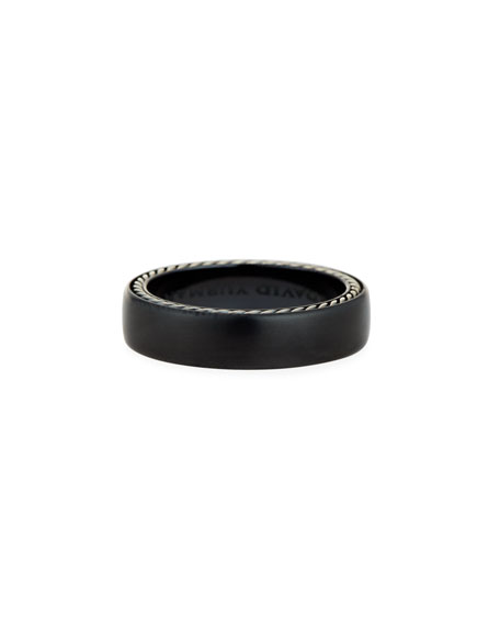 David Yurman Men's Streamline Narrow Band Ring w/