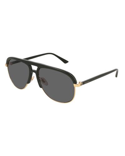Men's Shield Metal Sunglasses