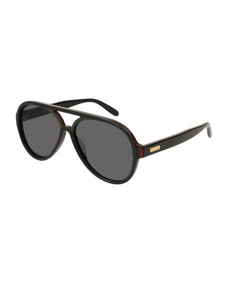 Men's Shield Acetate Sunglasses