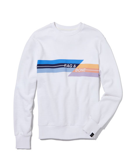 Men's Glitch Graphic Sweatshirt