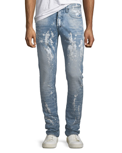 Men's Le Sabre Bleached Stain Tapered Jeans