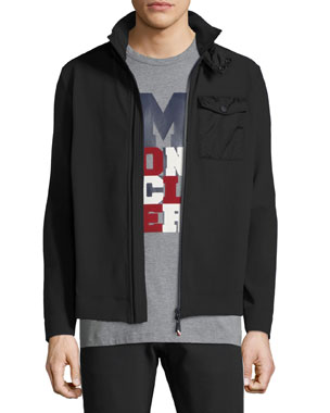 153b4125a473 Moncler Grenoble Men s Maglia Zip-Front Shirt Jacket