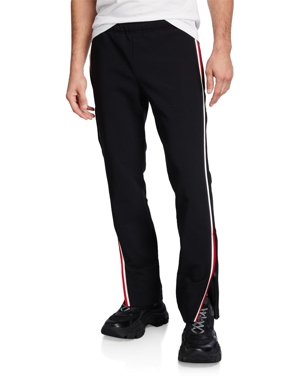 Moncler Pantalones recta chándal Grenoblemen con pierna de laterales de rayas a zAzqUZSx