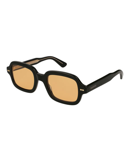 Gucci Men's Square Acetate Sunglasses