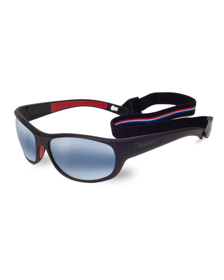 Men's Active Cup Wrap Nylon Sunglasses with Removable Strap