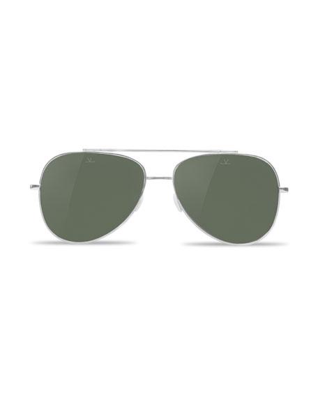 Men's Swing Large Titanium Pilot/Aviator Sunglasses