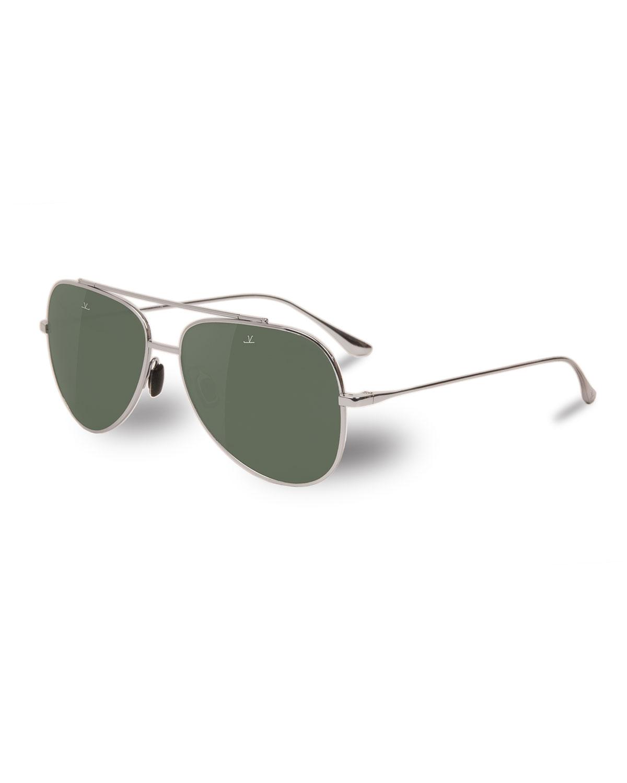 9b4b3ba30d Vuarnet Men s Swing Large Titanium Pilot Aviator Sunglasses