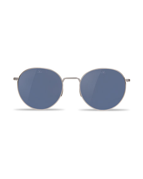 Swing Small Round Titanium Sunglasses