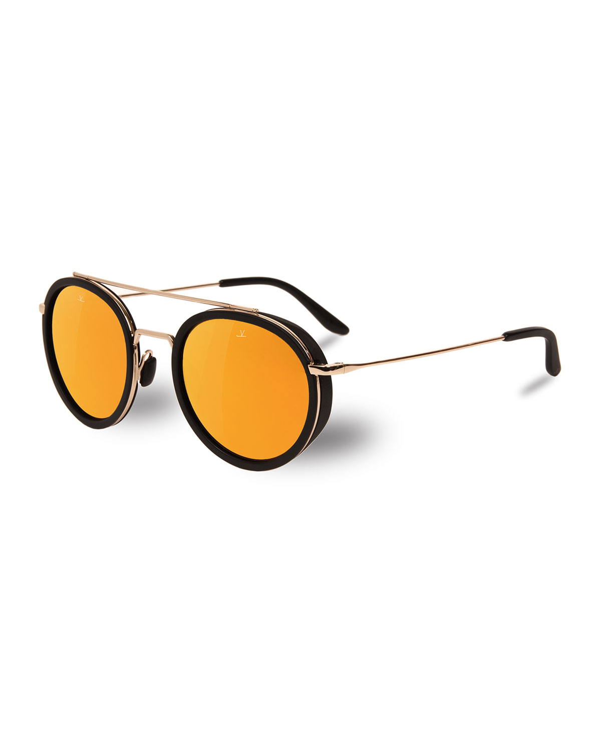 2d3cac67463 Vuarnet Men s Edge Round Stainless Steel Acetate Sunglasses