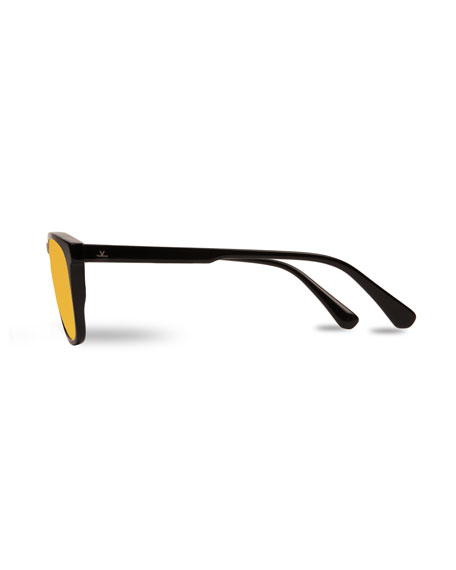 Men's District Large Rectangular Acetate Sunglasses
