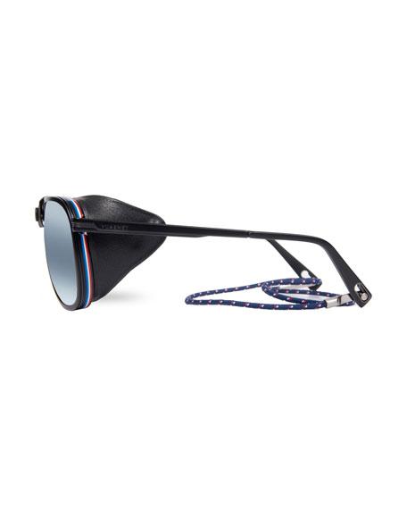 Men's Glacier XL Polarized Sunglasses w/ Removable Leather Side Case