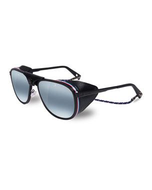 3bcbf2273c17 Vuarnet Men s Glacier XL Polarized Sunglasses w  Removable Leather Side  Case. Favorite. Quick Look