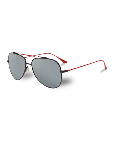 Men's Titanium Aviator Sunglasses
