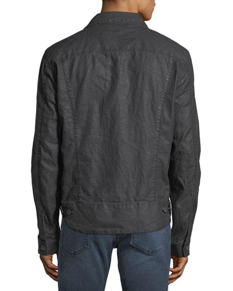 Men's Button-Front Linen Jacket