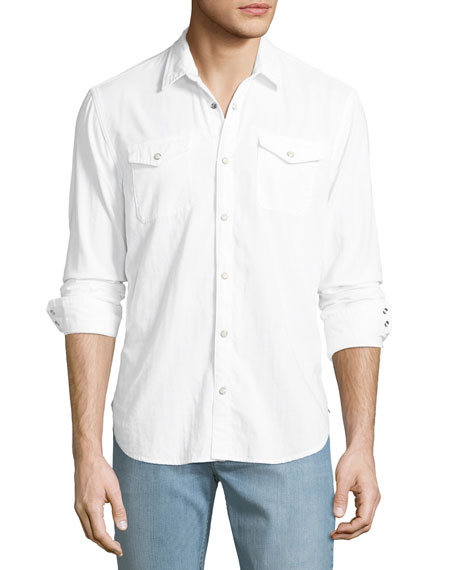John Varvatos Star USA Men's Cotton Western Shirt