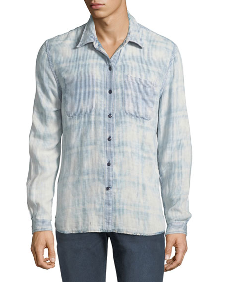 Men's Reversible Plaid/Pinstripe Sport Shirt