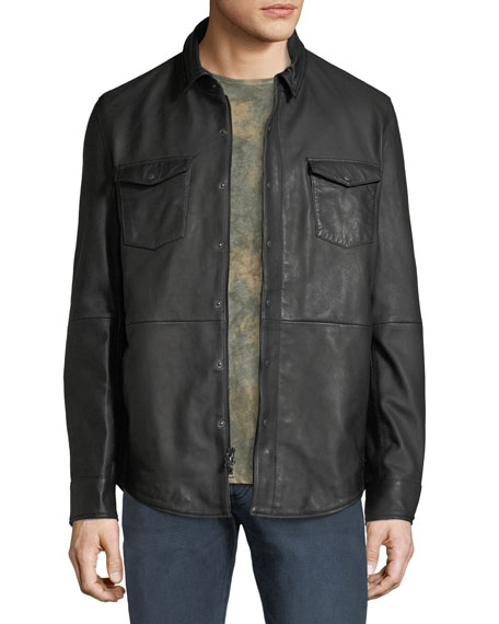 John Varvatos Star USA Men's Oiled Leather Western