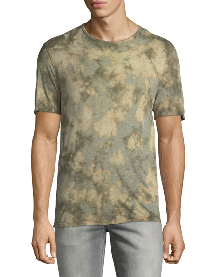 John Varvatos Star USA Men's Camo Tie-Dye Jersey