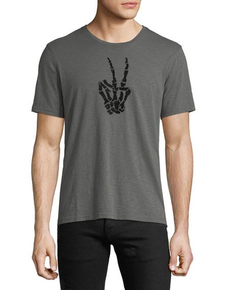 Men's Skeleton Peace Sign T-Shirt