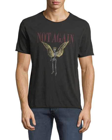 John Varvatos Star USA Men's Not Again Graphic