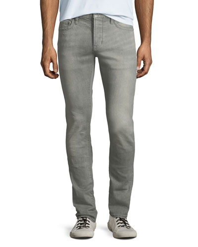 Men's Wight-Fit Button-Fly Jeans