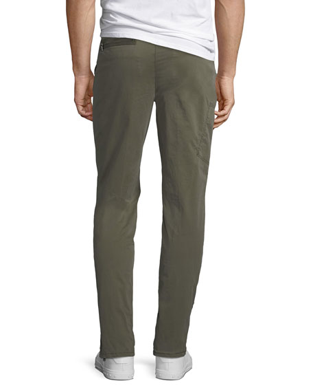 Men's Twill Cargo Pants with Zipper Detail