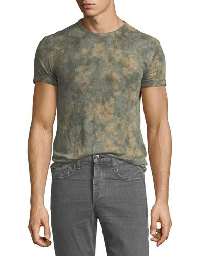 Men's Camo Tie-Dye Viscose T-Shirt