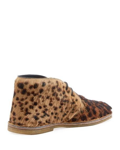 Men's Nino Leopard Calf Hair Chukka Boot