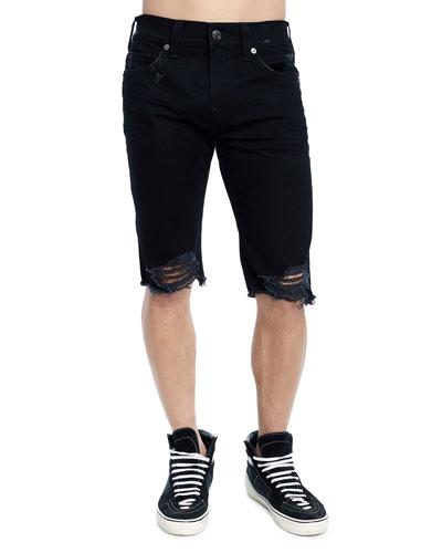 Men's Rocco Skinny Distressed Denim Shorts