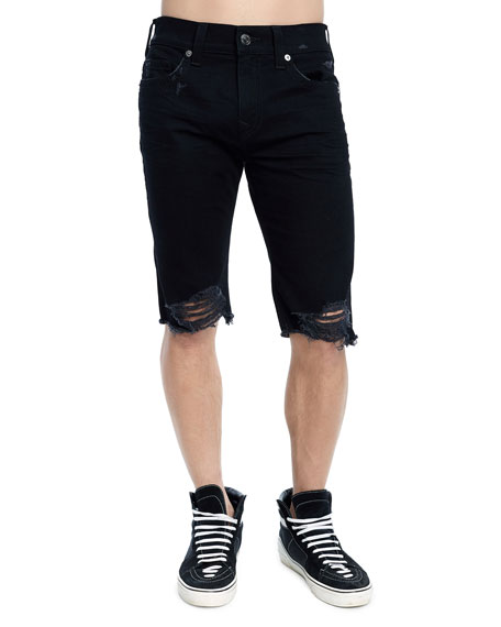 Men's Rocco Skinny Distressed Denim Shorts